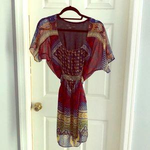 Forever XXI Printed Mini Dress